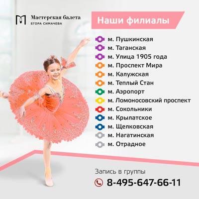все филиалы мастерская балета егора симачева