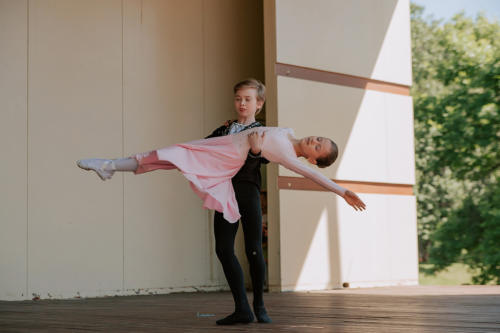 Выступление Мастерской балета в парке Воронцово